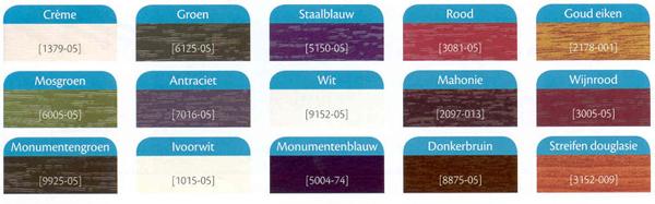 Gevelbelkeding-kleuren
